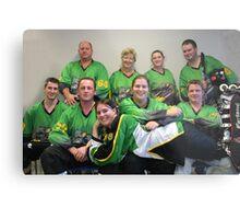 Senior C (Green) team Winter 2007 season Metal Print