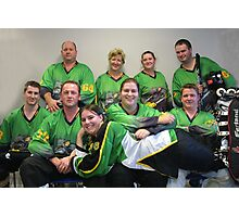 Senior C (Green) team Winter 2007 season Photographic Print