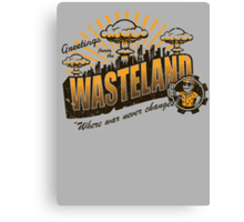 Greetings from the Wasteland! Canvas Print