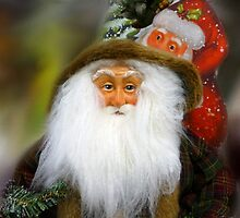 Old World Santa, with new one looking on. by WildestArt
