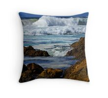 The sea at Narooma Throw Pillow