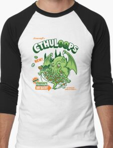 Cthuloops! All New Flavors! Men's Baseball ¾ T-Shirt