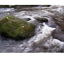 Rock in a stream Photographic Print