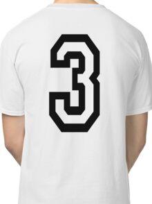 3, TEAM SPORTS, NUMBER 3, THREE, THIRD, Competition, Tri,  Triple Classic T-Shirt