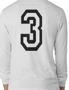 3, TEAM SPORTS, NUMBER 3, THREE, THIRD, Competition, Tri,  Triple Long Sleeve T-Shirt