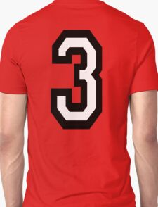 3, TEAM SPORTS, NUMBER 3, THREE, THIRD, Competition, Tri,  Triple T-Shirt