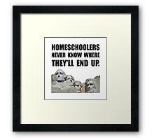 Homeschool Rushmore Framed Print