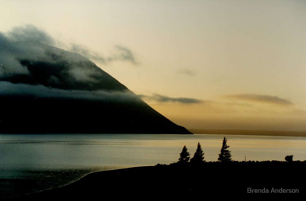 Lake Ohau at Dawn by Brenda Anderson