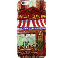 MONTREAL CHALET BBQ ROTISSERIE iPhone Case/Skin