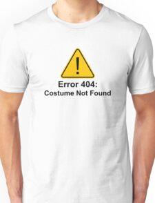 Error 404 Halloween Costume Not Found Unisex T-Shirt