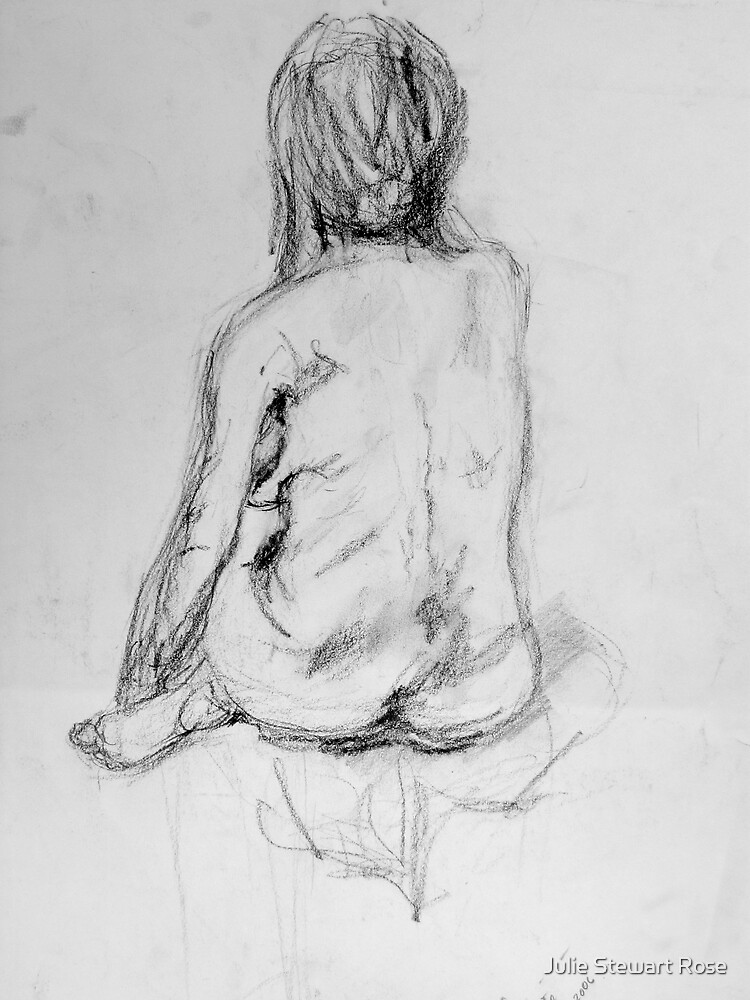 Female Nude from behind by Julie Stewart
