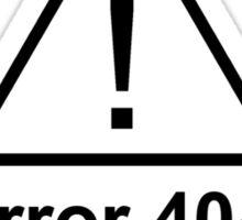 Error 404 Halloween Costume Not Found Sticker