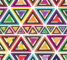 Colourful Triangle Pattern by Sukai