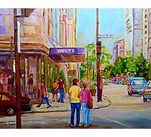 PAINTINGS OF MONTREAL STREETS HOLT RENFREW SHERBROOKE STREET Photographic Print