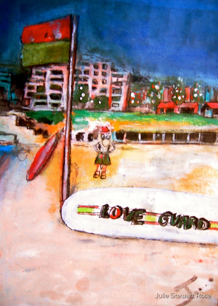 Christmas Love Guard at Coogee Beach by Julie Stewart