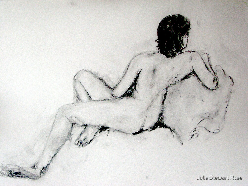 Female Nude Charcoal by Julie Stewart