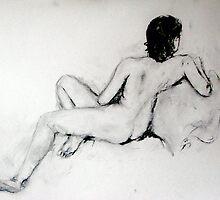 Female Nude Charcoal by Julie Stewart
