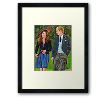 WILLS AND KATE Framed Print