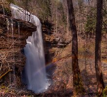 Catching a Rainbow at Virgin Falls by James Hoffman