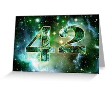 Forty Two Greeting Card