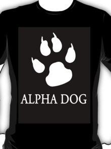 Alpha Dog paw print - white T-Shirt