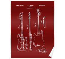 Fender Bass Guitar Patent-1953 Poster
