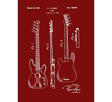 Fender Bass Guitar Patent-1953 Photographic Print