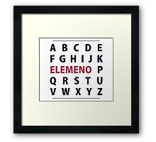 English Alphapbet ELEMENO Song Framed Print