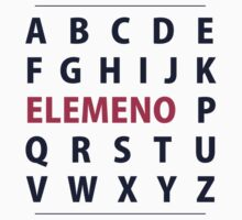 English Alphapbet ELEMENO Song by TheShirtYurt