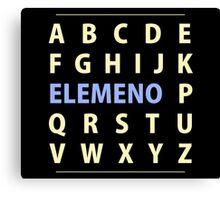 English Alphapbet ELEMENO Song Canvas Print