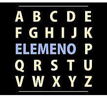 English Alphapbet ELEMENO Song Photographic Print