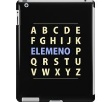 English Alphapbet ELEMENO Song iPad Case/Skin