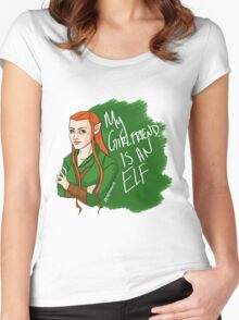 Tauriel - My Girlfriend is an Elf Women's Fitted Scoop T-Shirt