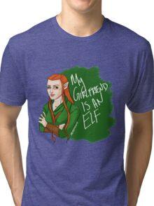 Tauriel - My Girlfriend is an Elf Tri-blend T-Shirt