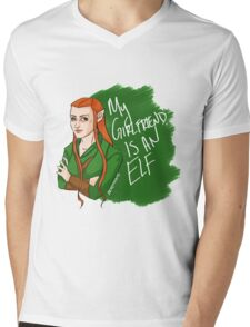 Tauriel - My Girlfriend is an Elf Mens V-Neck T-Shirt
