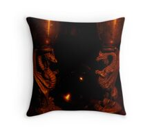 Guardian Dragons Throw Pillow