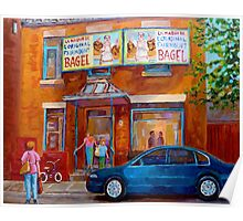 PAINTINGS OF MONTREAL FAIRMOUNT BAGEL SHOP Poster