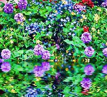 Flower Flood Duvet by GolemAura