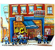 ST. VIATEUR BAGEL WITH HOCKEY GAME Poster