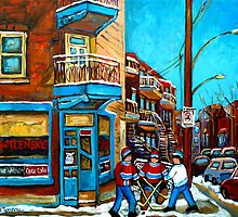 Wilensky Doorway with Hockey by Carole  Spandau