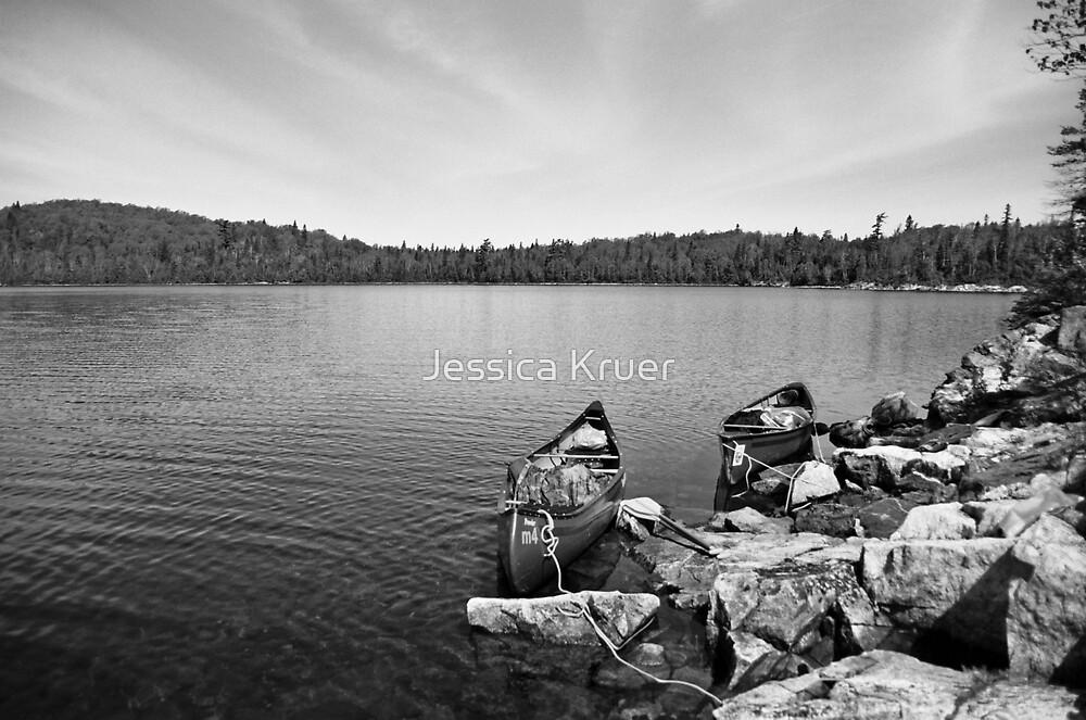 Canoes on Lake Mijin by Jessica Kruer