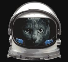 Space Helmet Astronaut Cat by TheShirtYurt