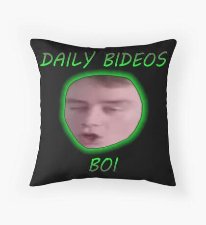 DAILY BIDEOS BOI Throw Pillow