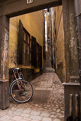 Stockholm alleyway by sasi