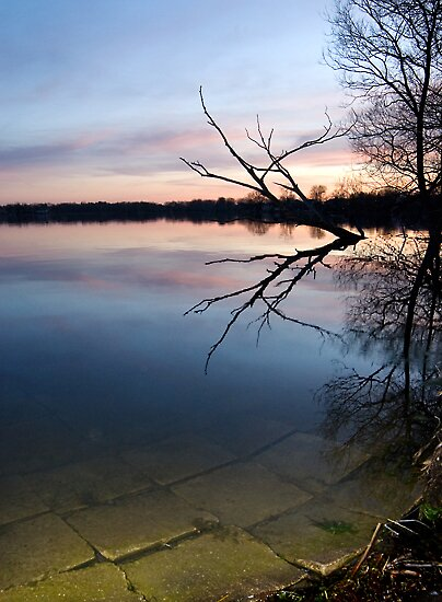 Lake Wilcox at sunset by sasi