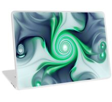 Green Swirls Laptop Skin