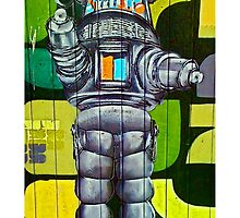 Robbie the Robot Street Art! by Tim Constable