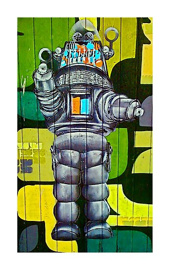 Robbie the Robot Street Art! by TimConstable