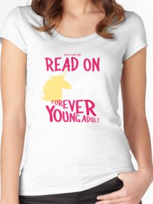 Keep Calm and Read On, FYA Women's Fitted Scoop T-Shirt