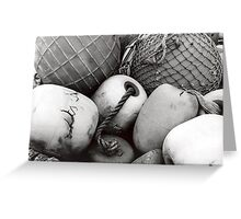 Black and white buoys Greeting Card